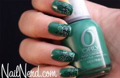 Nail Nerd (nail art for nerds) » Green Stamped Nails