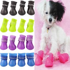 4pcs Portable Pet Dog Waterproof Boots Rubber Rain Dog Shoes for Dogs S M L Size #>=#>=#>=#>=#> Click on the pin to check out discount price, color, size, shipping, etc. Save and like it!