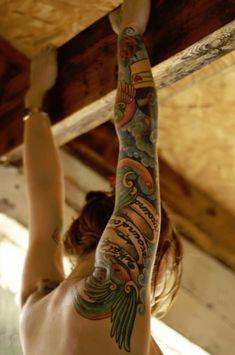 sleeve tattoo arm tattoo (5).... On my back idea