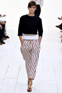 Chloe spring 2013 nautical stripes with sheer top