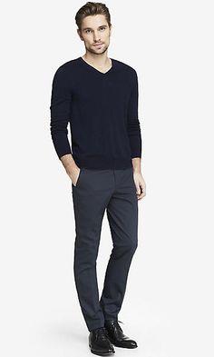 NAVY PINSTRIPE INNOVATOR DRESS PANT