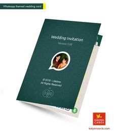WhatsApp themed Personal Wedding Invitation Cards WhatappCard with Printing Size, Glossy Laminated cards, wit Chinese Wedding Invitation, Scroll Wedding Invitations, Wedding Invitation Card Design, Personalised Wedding Invitations, Wedding Card Design, Digital Invitations, Card Wedding, Wedding Stationery, Invitation Card Maker