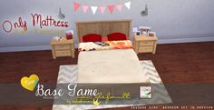 The Sims 4 | In a bad Romance OM mattress recolors for bed frames | buy mode new objects bed room