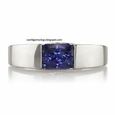 http://rubies.work/0313-sapphire-ring/ a World Gems Rings in blue sapphire Mens rings 14k white gold and 18k yellwo gold ring beautiful diamond and bkue sapphire Engagement and weddings ring.