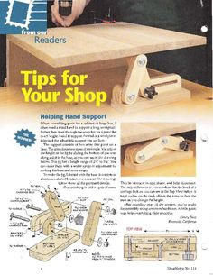 Adjustable support ShopNotes_Issue_114