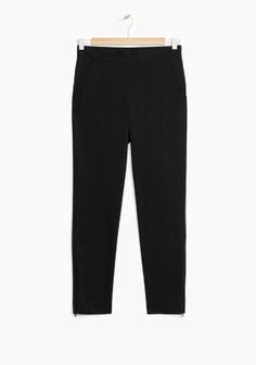 Trousers - & Other Stories Tailored Trousers, Cropped Trousers, Trousers Women, Ready To Wear, Leather Pants, Pajama Pants, Sweatpants, Clothes For Women, Fitness