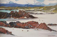 Red rocks, Iona 40x60cm