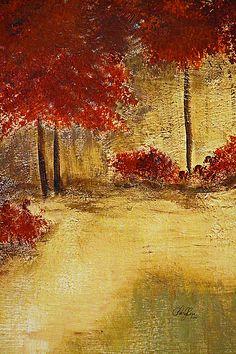 Autumn Walk by Artist Cheryl Rose ~ © 2016, acrylic, prints available