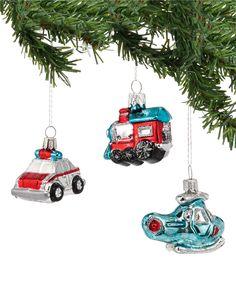 1956 Christmas Vehicle Ornament Set