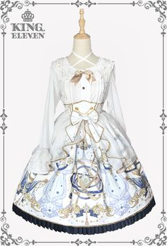 King Eleven -The Demon King of This Universe- Lolita High Waist Skirt Salopette