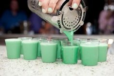 Dirty Girl Scout (1 oz Vodka 1 oz Kahlua coffee liqueur 1 oz Irish cream 1 oz White Creme de Menthe)