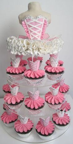 We do not offer cupcake cakes other than number or simple shaped cupcake designs. Please contact us to inquire about our cupcake shaped designs. Number cakes are done with a min of 24 cupcakes. Ballerina Cupcakes, Ballerina Birthday, Dance Cupcakes, Birthday Cupcakes, Ballerina Pink, Pretty Cakes, Beautiful Cakes, Amazing Cakes, Cute Cupcakes