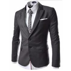 >> Click to Buy << Two grain of buckle men's suit jacket high quality formal occasio business leisure suit jacket lapel simple style fashion jacket #Affiliate