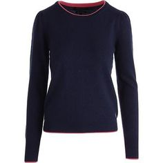 Juicy Couture Black Label 8837 Womens Navy Cashmere Pullover Sweater Top S BHFO