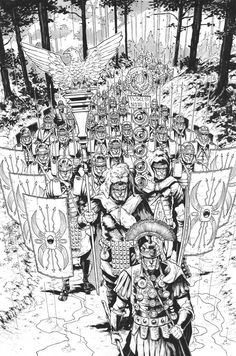 Barbarians Lurk in the Forest – Britannia: Lost Eagles of Rome — The Beat - W. Ancient Rome, Ancient History, Comic Books Art, Comic Art, Imperial Legion, Ancient Greek Sculpture, Roman Warriors, Roman Legion, Military Drawings