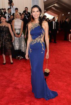 2015 Met Gala - Wendi Murdoch in Oscar de la Renta