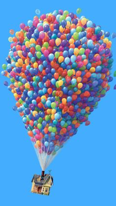 UP by redscarf Up House Pixar, Up Movie House, Disney Up House, Up Pixar, Up The Movie, Disney Balloons, Up Balloons, Cute Disney, Disney Art