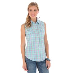 Women's As Real As Wrangler Snap Front Shirt #LRW253M