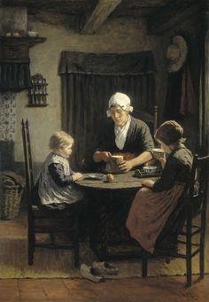 'Bij grootmoeder'., David Adolph Constant Artz, 1883