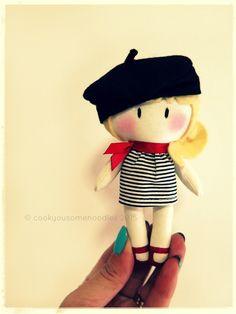 "5"" MICRO My Teeny-Tiny Doll® - Paris by cookyousomenoodles.com"
