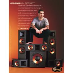 Henry Rollins in an advertisement for the Klipsch Reference series of speakers. For more information on the Reference series, go to http://www.klipsch.com/reference
