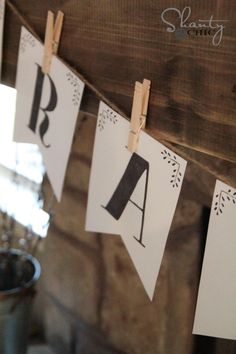 Free Printable Letter Banners - The entire alphabet by Shanty2Chic!