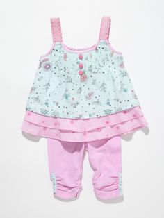 Pleated Top & Legging Set by Beetle Baby at Gilt