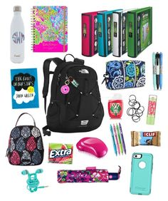 A fashion look from December 2016 featuring backpack bags, vera bradley bags and BaubleBar. Browse and shop related looks. Back To School Supplies For Teens, Back To School Essentials, Back To School Hacks, School Tips, Going Back To School, School Backpack Organization, Estilo Converse, What's In My Backpack, Backpack Essentials
