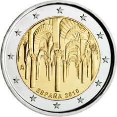 moneda conmemorativa 2 euros España 2010 Mezquita Cordoba.