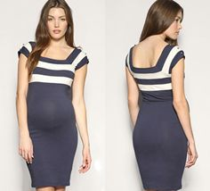 striped maternity dress from British  ASOS