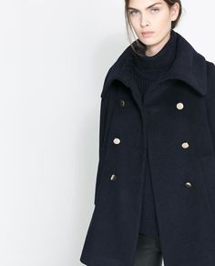 FUNNEL COLLAR COAT from Zara