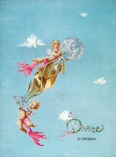 vintage perfume ad: Divine D'Orsay perfume ad