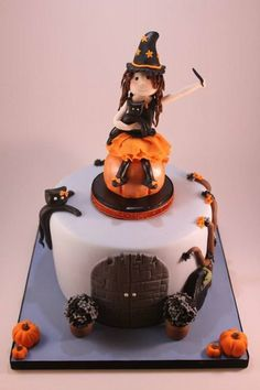 Halloween Little Witch Cake Cake by looeze