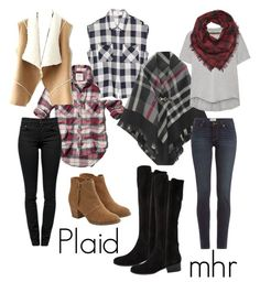 """""""Kristi does Plaid"""" by hartyourcloset on Polyvore featuring Abercrombie & Fitch, Enza Costa, Charlotte Russe, Proenza Schouler, Paige Denim, American Eagle Outfitters, Steve Madden, women's clothing, women's fashion and women"""