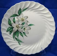 Vintage Huge Tropical Magnolia Scalloped Edge Platter Charger #decorativedishes