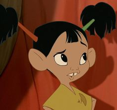 Chaca is a supporting character from The Emperor's New Groove. She is a daughter of Pacha and Chicha. Chaca first appears in this film with her first brother Tipo during Pacha's return from his visit to Kuzco's palace. They embrace their father warmly, and beg to stay awake passed their bedtime, until being disturbed by the idea of having to watch their parents display affection.