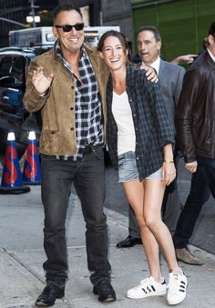 Proud Dad Bruce Springsteen Steps Out with His Daughter Jessica in Matching Outfits from InStyle.com