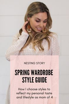 """A couple times a year I overhaul my wardrobe. I start by thinking, """"what is my style this season? Who do I want to be and what is my style going to look like this spring?""""  #fashion #styleguide #spring #NestingStory"""