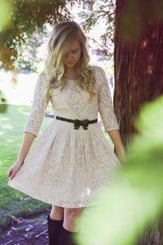 pretty lace dress!