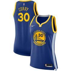 Nike Women's Golden State Warriors Stephen Curry #30 Royal Dri-FIT Swingman Jersey, Size: Large, Team