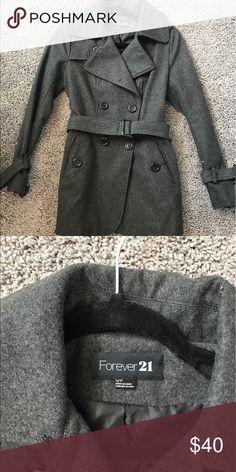 Forever 21 coat Grey coat in a great condition Jackets & Coats Pea Coats