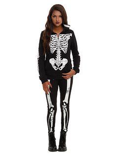 Teenage Runaway Skeleton Girls Hoodie | Hot Topic