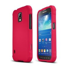 Rose-Pink-Samsung-Galaxy-S5-Active-Matte-Rubberized-Hard-Plastic-Snap-on-Case