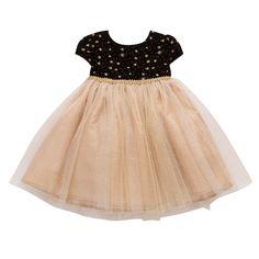 Marmellata Classics Rosette Polka Dot Dress - Baby