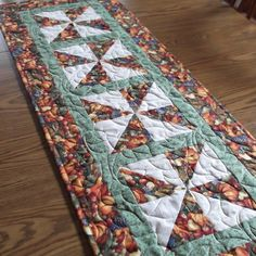 Quilted Fall Tablerunner by lmkquilts on Etsy, $35.00