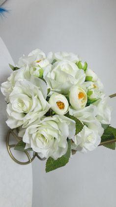 Букет-дублер или букет подружки невесты из цветов ручной работы. #свадьбы #букет_дублер #букт_подружки #ручная_работа #soprunstudio