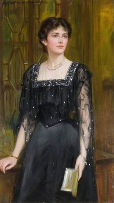Portrait of Mrs Goldsborough Anderson, c.1900 by Charles Anderson (British 1865–1936)
