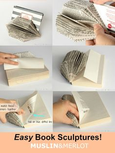Upcycle books into gem-shaped book sculptures! Great little organizer or home decor item.