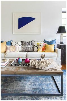 Living Room Inspiration--couch pillow colors