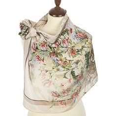 Pavlovo Posad Shawl Fashion (Community) Scarf Wrap 178 Beige Silk 35x35 * See this great product.